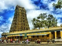 Temple indou antique photo stock