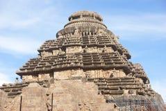 Temple indou antique chez Konark images stock