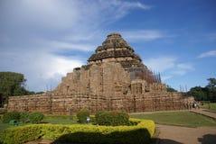 Temple indou antique chez Konark photo stock