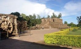 Temple indou antique conçu comme char images libres de droits