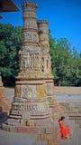 Temple indou antique du soleil au Goudjerate image stock