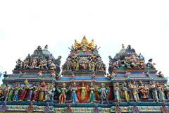 temple indou coloré de sri de Singapour de sculptures en art veeramakaliamman photographie stock libre de droits