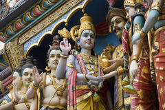 Temple indou de Sri Krishnan - Singapour photo stock