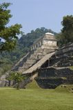 Temple of the Inscriptions. In the mayan ruins at Palenque, Mexico Stock Photography