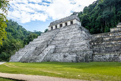 Temple of Inscriptions at mayan ruins of Palenque - Chiapas, Mexico Royalty Free Stock Image