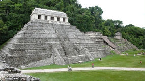 Temple of the Inscriptions. Palenque. Chiapas. Mexico Royalty Free Stock Photos