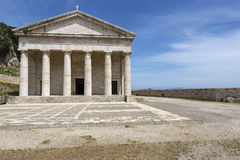 Temple inside the old fortress in Corfu city Stock Photo