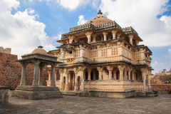 Temple of the interior of Fort Kumbhalgarh in India Stock Photos