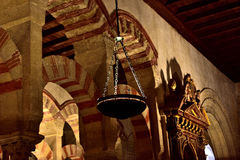 Temple interior. Interior of the mosque of cordoba Royalty Free Stock Photography