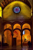 Temple interior. Interior of the mosque of cordoba Stock Images