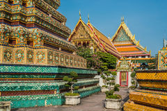 Temple interior Wat Pho temple bangkok Thailand Royalty Free Stock Photo