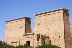 Temple of Isis. The temple of goddess Isis in phiela island Egypt royalty free stock images