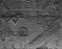 Temple of Isis - bas-reilef Stock Image
