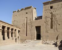 Temple of Isis detail Royalty Free Stock Photography