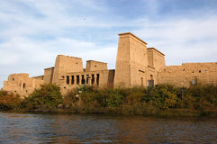 Temple of Isis, Philae. The Ancient egyptian temple to the Goddess Isis, Philae, Aswan, Egypt royalty free stock image
