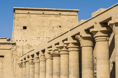 The temple of Isis from Philae, Aswan, Egypt Royalty Free Stock Images