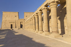 The Temple of Isis at Philae (Egypt)-horizontally. The Temple of Isis at Philae island. Near the town of Aswan ( Egypt Royalty Free Stock Photography