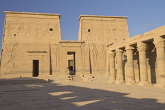 The Temple of Isis at Philae island (Egypt) Stock Photos