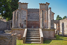 Temple of Isis in Pompeii. Temple of Isis in ancient Pompeii stock photography