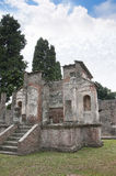 The Temple of Isis in Pompeii. The Temple of the Egyptian Goddess Isis in the once buried city of Pompeii in Italy royalty free stock photo