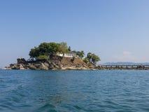 Temple on island in Burma Stock Photography