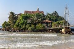 Temple on an island in Matara. Sri lanka. Royalty Free Stock Image