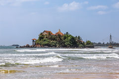Temple on an island in Matara. Sri lanka. Stock Images