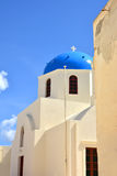The temple on the island of Santorini, Greece Stock Photo