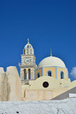 The temple on the island of Santorini, Greece Royalty Free Stock Image