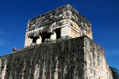 Temple of the Jaguar at Chichen Itza Stock Images