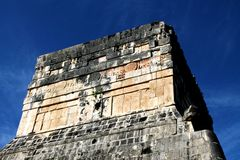 Temple of the Jaguar at Chichen Itza Royalty Free Stock Photography