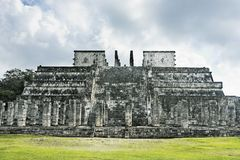 Temple of the jaguar warriors Chichen Itza Royalty Free Stock Photography