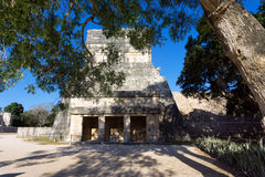 Temple of the Jaguars in Chichen Itza Royalty Free Stock Image