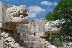Temple of the Jaguars and Eagles Stock Photography