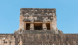 Temple of the Jaguars at the Great Ball Court, Chichen Itza. Yucatan, Mexico Royalty Free Stock Images