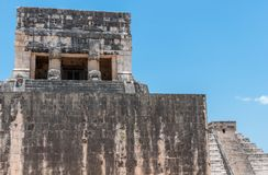 Temple of the Jaguars at the Great Ball Court, Chichen Itza. Yucatan, Mexico Stock Photography
