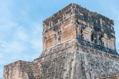 Temple of the Jaguars at the Great Ball Court, Chichen Itza. Yucatan, Mexico Royalty Free Stock Photography