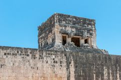 Temple of the Jaguars at the Great Ball Court, Chichen Itza. Yucatan, Mexico Stock Photos
