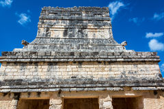 Temple of the Jaguars. View of the temple of the jaguars in Chichen Itza, Mexico Stock Images