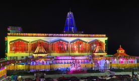 Temple. Jai maa vaishno devi in katra ardhkumari temple in shivratri royalty free stock photo