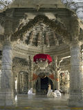 Temple Jain d'Adinath - Ranakpur - Inde Photos stock