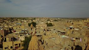 Temple in Jaisalmer Fort, Rajasthan, India. Aerial shot.Temple in Jaisalmer Fort, Rajasthan, India Professional shot in 4K resolution. 024. You can use it e.g stock video footage