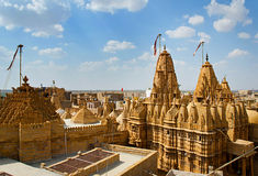 Temple in Jaisalmer Fort, Rajasthan, India Royalty Free Stock Images