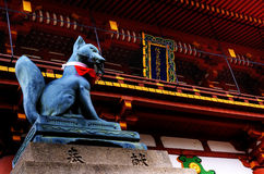 Temple, Japan. God of dog in Shinto Religion Royalty Free Stock Photos