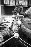 Temple Japan dragon fountain Stock Image