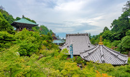 Temple in Japan with forest Stock Photo