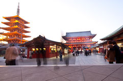 Temple in Japan, Sensoji People Royalty Free Stock Photo