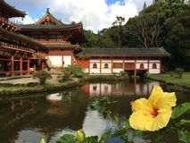 Temple japonais à Honolulu Hawaï Photographie stock libre de droits