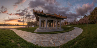 Temple japonais de jardins image stock