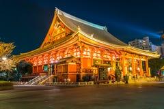 temple japonais rouge de Sensoji-JI dans Asakusa, Tokyo Image stock